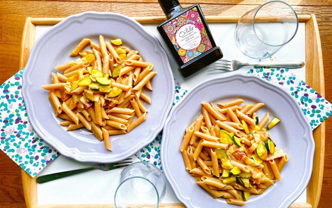 夏にぴったりのズッキーニを使ったカルボナーラの簡単レシピ