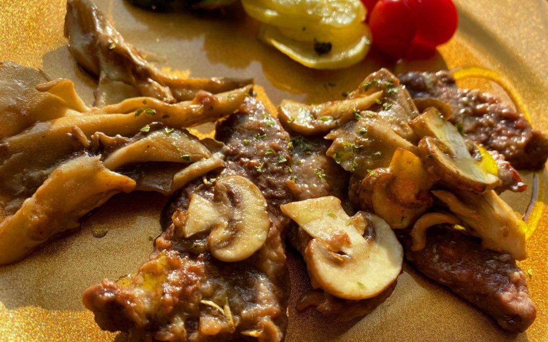ソテーやムニエルは知ってるけど「スカロッピーネ」とは??簡単だけど美味しい牛肉ときのこのスカロッピーネのレシピ付き!